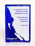 Recycled Cobalt Glass Rectangle Award