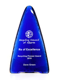 Recycled Cobalt Glass Tower Award