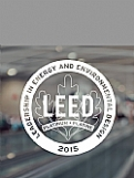 LEED Vinyl Decal - White Award
