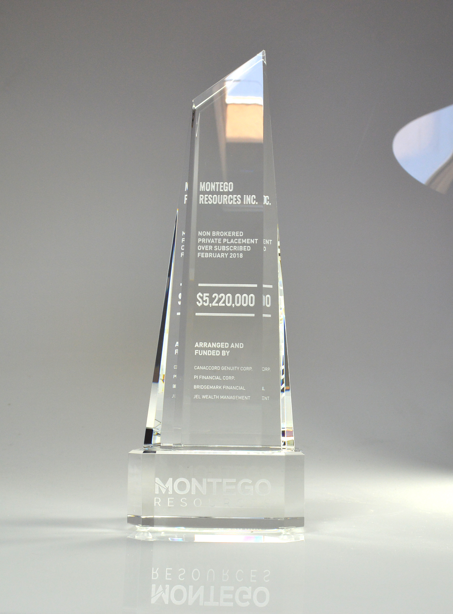 Montego Resources - Crystal Elation Award