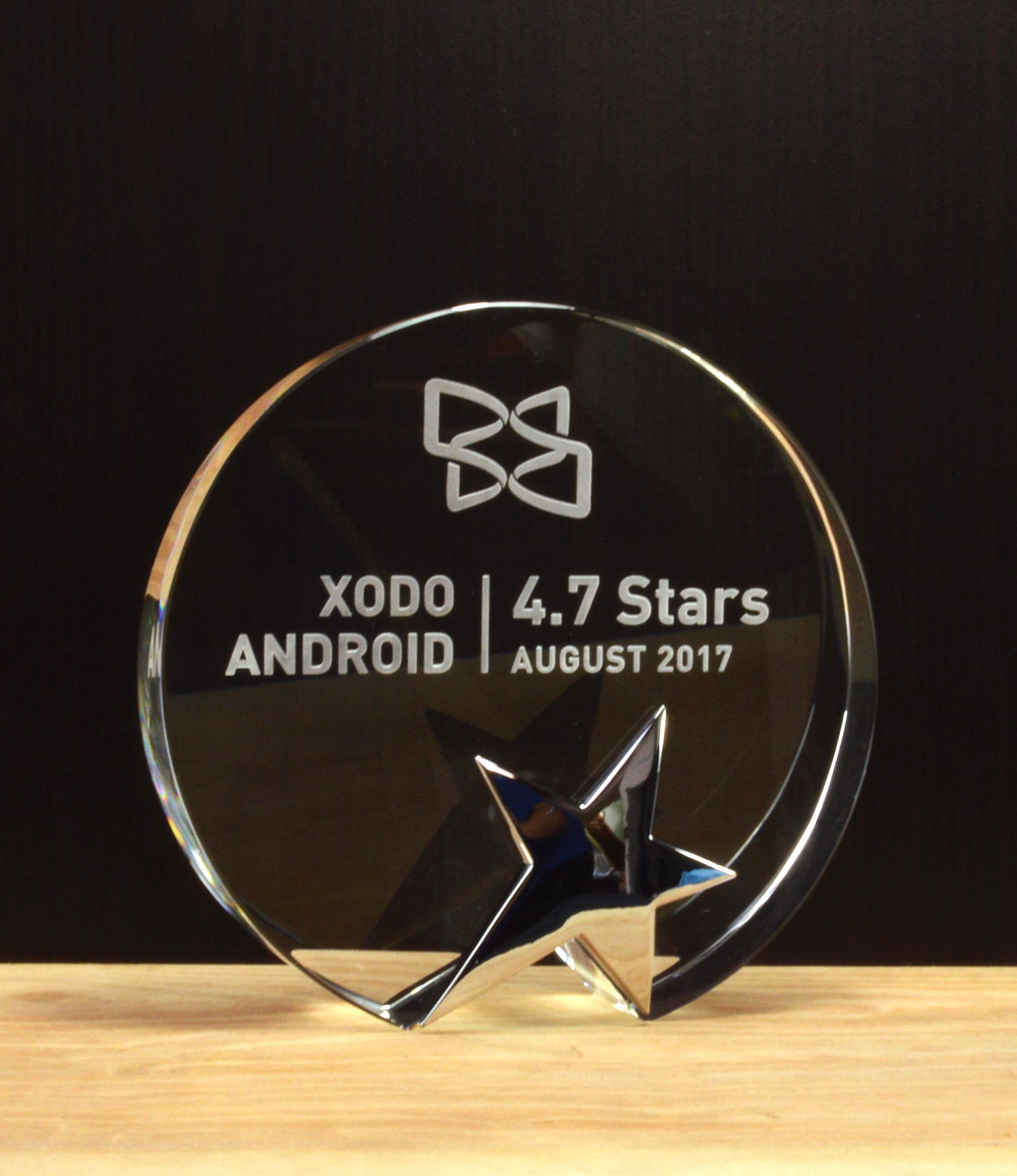 PDFTron-Star Performance Crystal and Chrome Award
