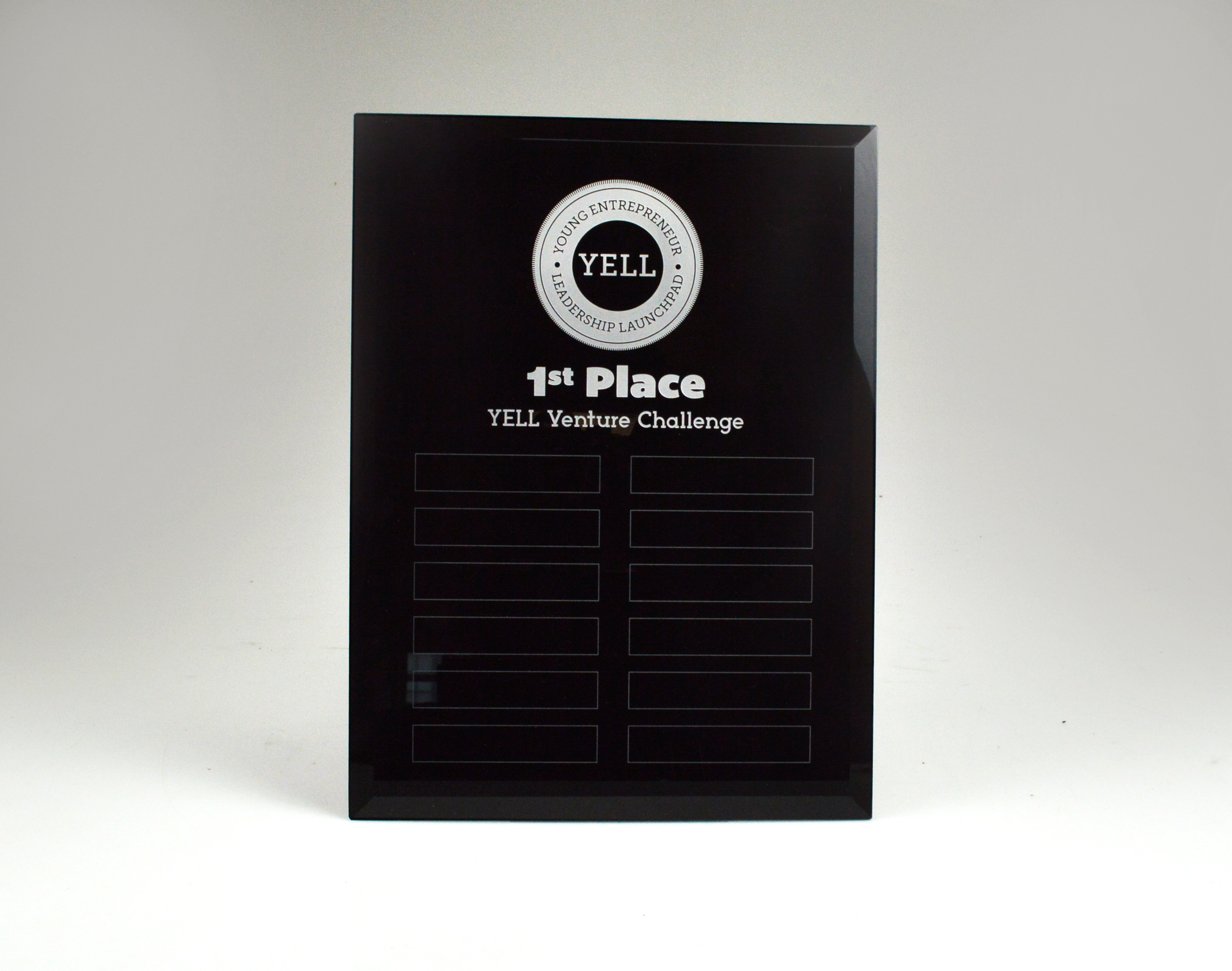 YELL - Black Glass Perpetual Plaque - perpetual