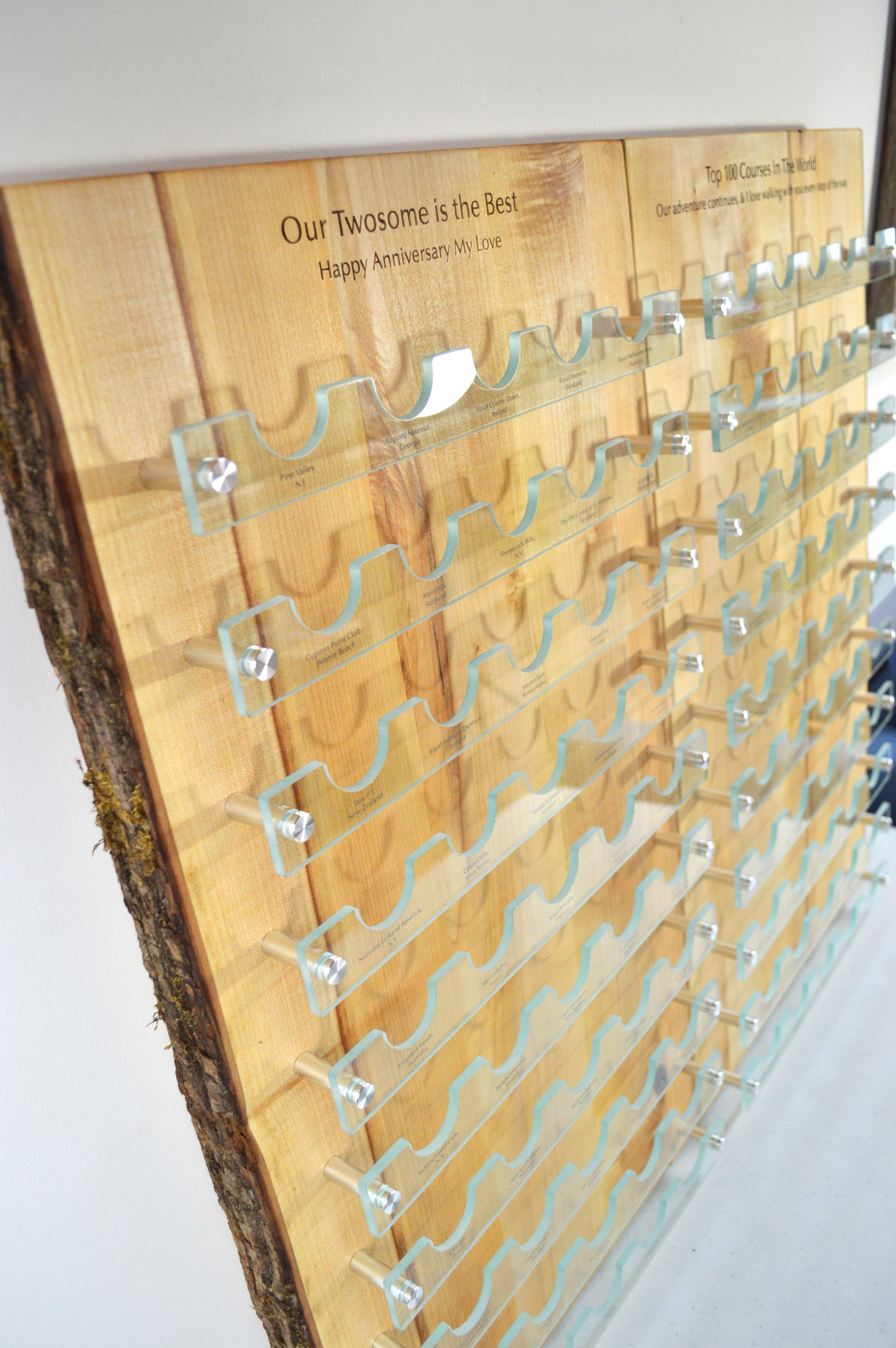 custom-awards_sustainable_salvaged-wood_glass_personalized_golf-ball-display-wall-plaque_Vancouver2