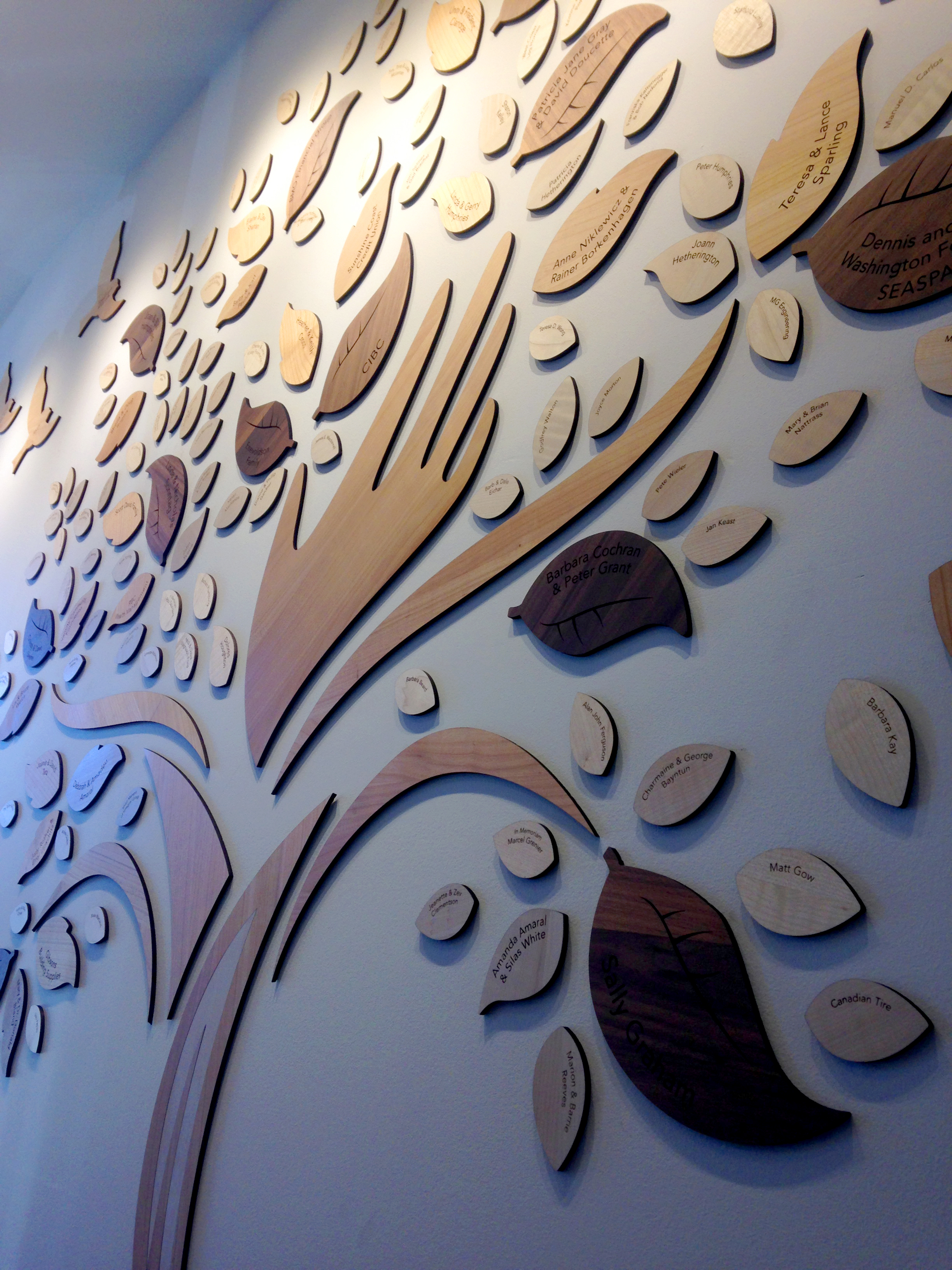 custom-awards_unique-wood_donor-wall-giving-tree_personalized_eco-friendly_non-profit_recogniton-wall_BC
