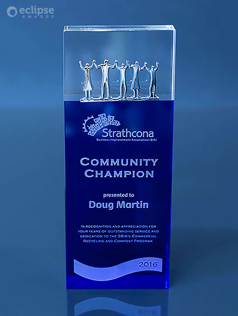 Modern-customized-glass-charity-community-award-vancouver