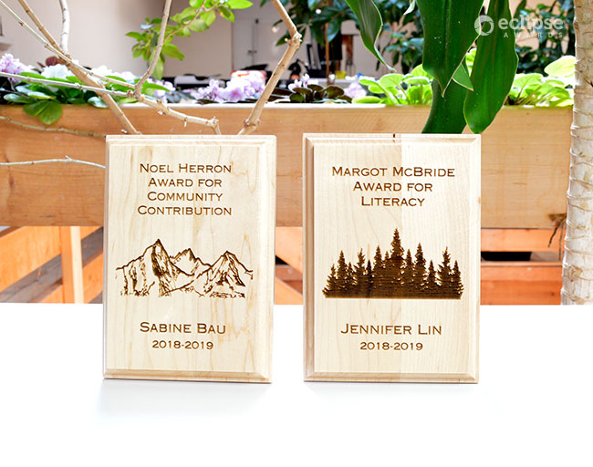 sustainable-personalized-wood-wall-plaque-nonprofit-student-award-canada
