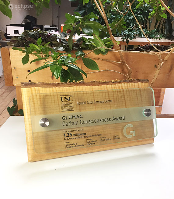 unique-carbon-neutral-engraved-glass-and-wood-wall-plaque_green-building-trophy_Leed-plaque-canada-3