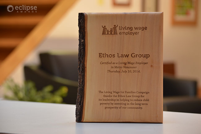 unique-eco-friendly-green-salvaged-wood-wall-plaque_corporate-recogniton-plaque-living-wage-vancouver