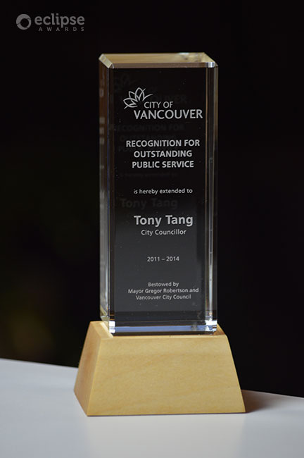unique-sustainable-customized-wood-and-glass-corporate-public-service-trophy-vancouver-roots-award