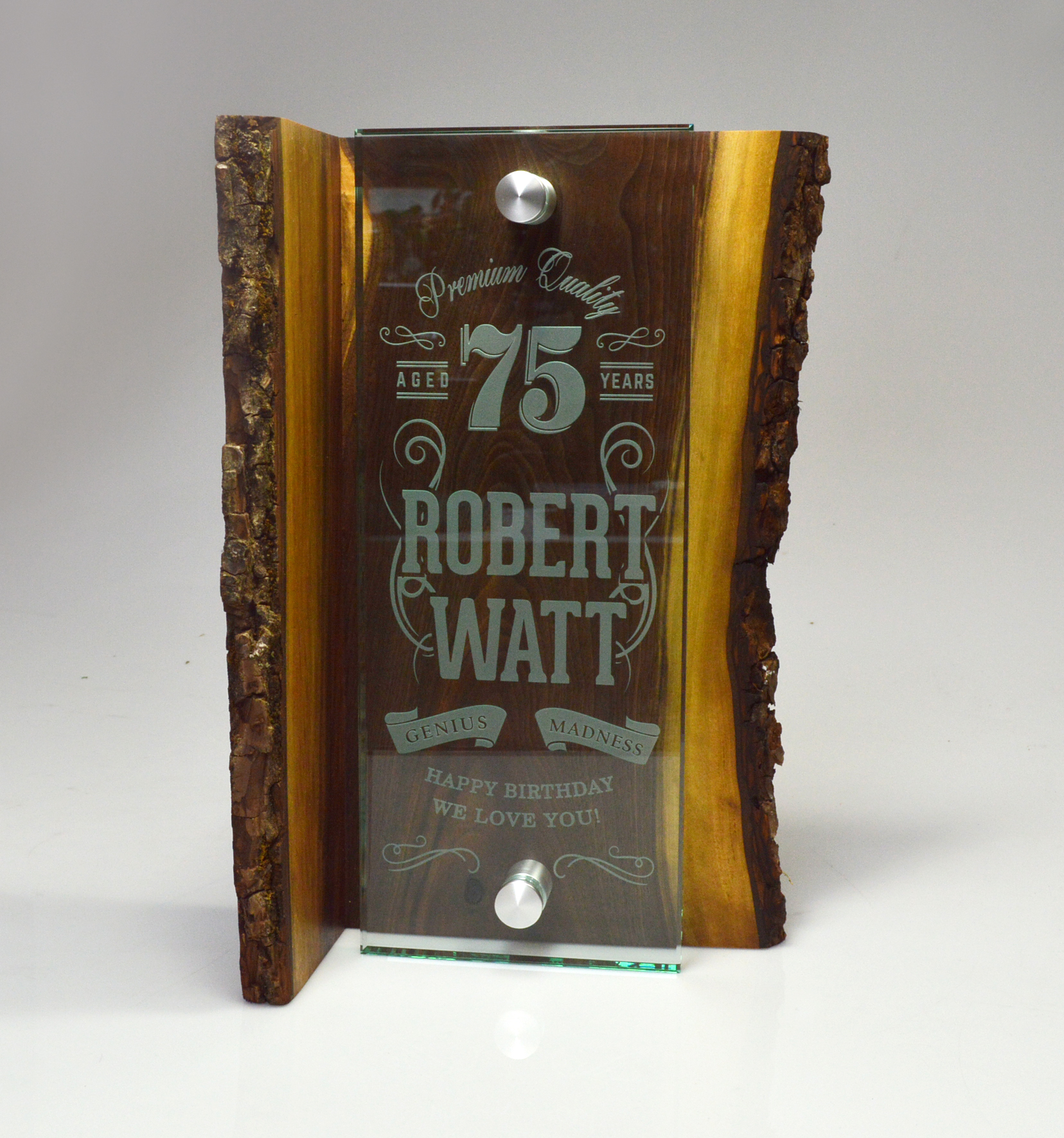unique-sustainable-salvaged-wood-and-glass-custom-trophy-happy-birthday-trophy-canada-2
